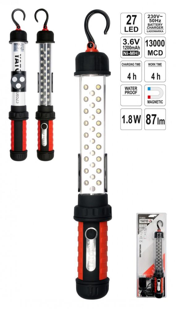 akku arbeitslampe werkstattlampe stablampe handlampe leuchte lampe mit 26 leds ebay. Black Bedroom Furniture Sets. Home Design Ideas
