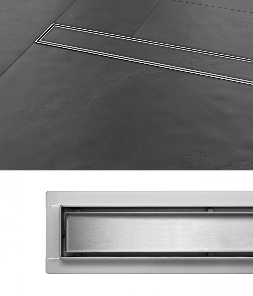 Griglia scolo doccia Scarico a pavimento Madeira 40 cm acciaio inox Sifone  eBay