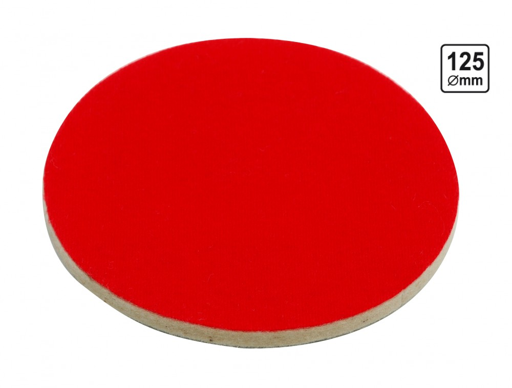 polierfilz filzscheibe polierscheibe f r exzenterschleifer 125 mm elektrowerkzeuge zubeh r. Black Bedroom Furniture Sets. Home Design Ideas