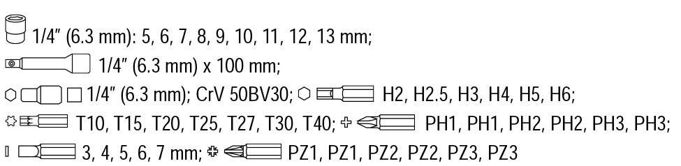 Ratschen Seckschlüssel Schraubendreher Satz mit Gelenk Ratsche 42 Tlg
