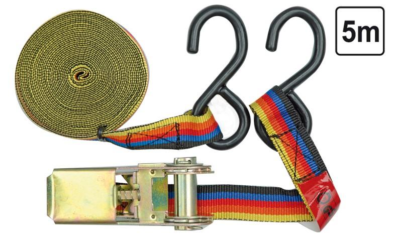 zurrgurt spanngurt ratschengurt mit haken 5 m 25 mm 125 dan kfz handwerk ladungssicherung. Black Bedroom Furniture Sets. Home Design Ideas