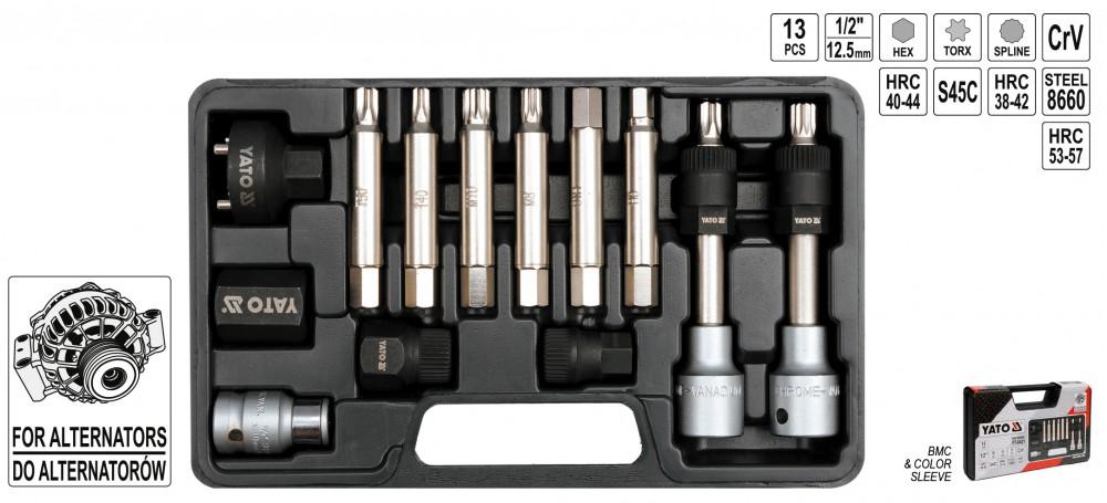 13 tlg profi lichtmaschinen werkzeug satz vielzahn inbuss stern torx profil handwerkzeuge. Black Bedroom Furniture Sets. Home Design Ideas