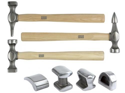 Profi Ausbeul Hammer Richtsatz Werkzeug Set 7 teilig